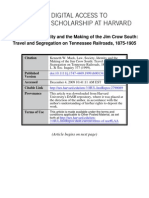 Law, Society, Identity and the Making of the Jim Crow South