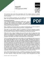 AFM Exam Report June 2020