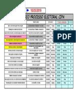 Cronograma de implantação de CIPA