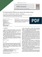 Integral Equation Model for the Magnetic Flux Leakage Method 2010