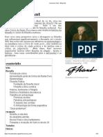 WIKIPEDIA. Immanuel Kant (Tradução do alemão)
