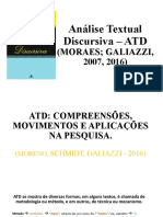 Análise Textual Discursiva –ATD