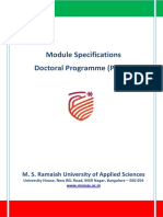 Doctoral Programme Modules