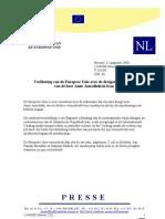 Verklaring van de EU over de dreigende executie van de heer Amir Amrollahi in Iran - 12 augustus 2008
