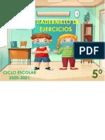 QUINTO Cuadernillo de Ejercicios AGOSTO-SEPTIEMBRE 2020