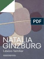 GUINZBURG, Natalia. Léxico familiar