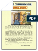 READING COMPREHENSION   STONE  SOUP
