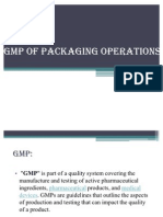GMP OF PACKAGING OPERATIONS
