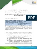 Formato Guia de actividades y Rubrica de evaluacioon - Fase 2 Componente técnico y nutricional