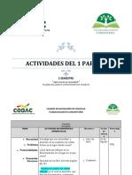 ACTIVIDADES EN CASA 3 SEMESTRE QUE NECESITA MI COMUNIDAD