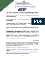 ORIENTAÇÕES PRÉ ENEM 2020_2 ETAPA_