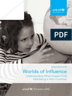 UNICEF Innocenti Report Card 16 Worlds of Influence Child Wellbeing