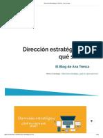 Dirección Estratégica, Qué Es - Ana Trenza.pdf