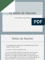 DELITO DE FUNCION