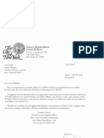 FOIL rejection letter from NYPD