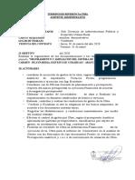 TDR - AUXILIAR ADMINISTRATIVO