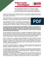 GOVERNO  DE MG CONCEDE INCENTIVO FISCAL PARA PROPRIETÁRIOS E POSSEIROS RURAIS QUE RECUPERAM  PRESERVAM E CONSERVAM ÁREAS DE INTERESSE AMBIENTAL