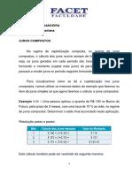 Matematca Financeira - Juros Compostos