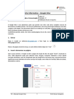 Manual Google Sites (TIC 8.º Ano)