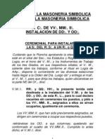 RITUAL DE LA MASONERIA SIMBOLICA - PortalGuarani.com