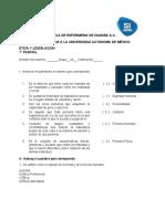 Examen Etica y Legislación 1 parcial 2020
