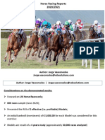 Horse Racing Betting Reports (2020-2021)