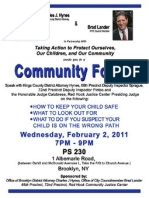 Public Safety Community Forum Flyer