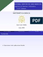 Espacios Vectoriales Matemática Básica UNMSM