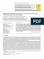 Modeling and parameter estimation of a nonlinear switching systemin fed-batch culture with pH feedback
