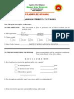 REVISED FORM 2-Standard Recommendation Form