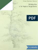 Martínez M. - Hölderlin y la lógica hegeliana