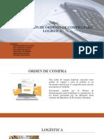 FORMULACIÓN DE ÓRDENES DE COMPRA PARA LOGÍSTICA GUBERNAMENTAL