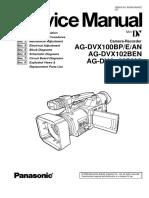 Manual de servicio Panasonic agdvx100bp
