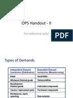 OPS Handout - II (1)