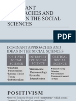 Chapter 2 Dominant Approaches and Ideas in the Social Sciences
