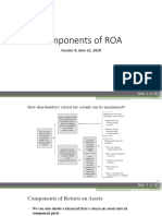 Session 4 Components of ROA
