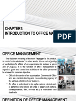 OM-CHAPTER1-INTRODUCTION TO OFFICE MANAGEMENT - Copy