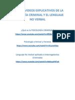 Anexo Videos de Psicología Criminal y Lenguaje No Verbal