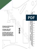 RG8 Pickguard Print Template