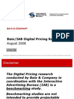Bain IAB Digital Pricing Research