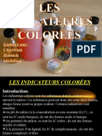 LES INDICATEURES COLOREES
