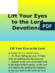 Lift Your Eyes to the Lord (Devotional)