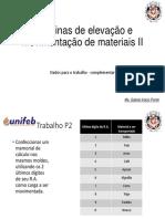 Dados Trabalho P2