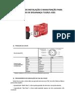 Instruções Chaves de Segurança TLSZRL-GD2