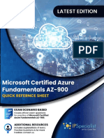 Microsoft Certified Azure Fundamentals AZ-900 Quick Reference Sheet