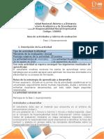Guia de actividades y Rúbrica de evaluación - Unidad 1 - Fase 1 Reconocimiento