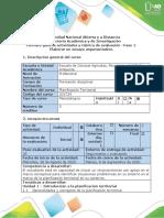 Guía de actividades y rúbrica de evaluación -Fase 1 Elaborar un ensayo argumentativo