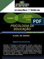 Aula PSICOLOGIA DA EDUCAÇÃO 05 de agosto de 2020