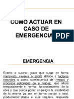 COMO ACTUAR EN CASO DE EMERGENCIAS