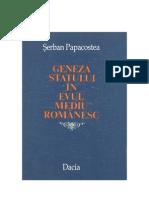 Papacostea-Geneza Statului in Evul Mediu